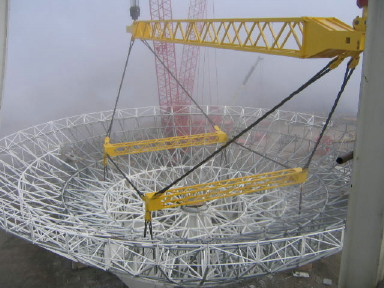 reflector lift with fog